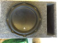 10 inch JL W3v3 with JL 250/1 amp and ported box