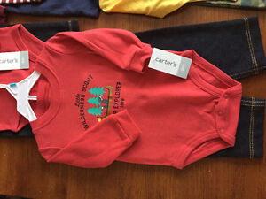 New! Carters 2 pc outfits. Size 3,6,9 mths Kitchener / Waterloo Kitchener Area image 2