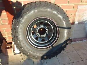 285/75R16 Mickey Thompson mud tyre and 6 hole rim Port Kennedy Rockingham Area Preview
