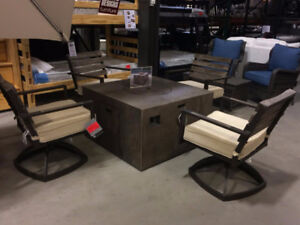 Fire Table Set!!! Swivel Chairs!! Blowout Pricing! Come get it!