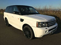 2008 58 LAND ROVER RANGE ROVER SPORT 4.2 V8 SUPERCHARGED AUTO WHITE FULL HISTORY
