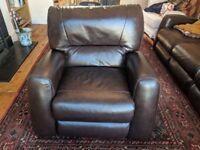 Lazy Boy Leather Reclining Armchair