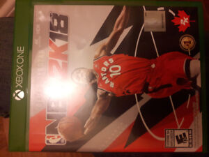 Selling NBA 2K18 for Xbox One.