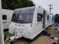 2016 Bailey Pegasus Verona IV Fixed Bed End Washroom Caravan with Solar Panel