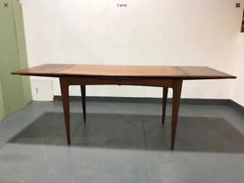 Vintage 1960s Teak Drawleaf Extending Dining Table