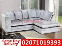 Crushed Velvet Corner Sofa--Order Now!