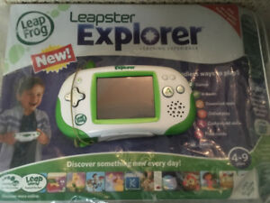 Leapster Explorer with 5 Games! With packaging/instructions!