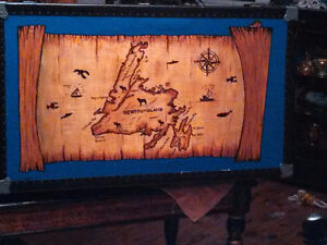 hand painted old steamer trunk