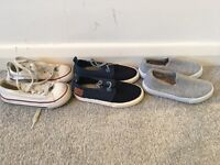 X3 Pairs of kids shoes ( x2 pairs are brand new ) SIZE 7 infants