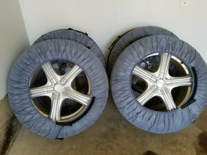 18inch 4 Winter Tires on Aluminium-alloy Wheels