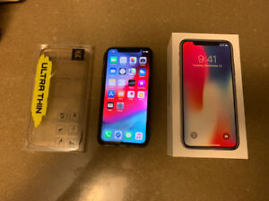 Space Gray iPhone X  Factory Unlocked 256G with Apple Care