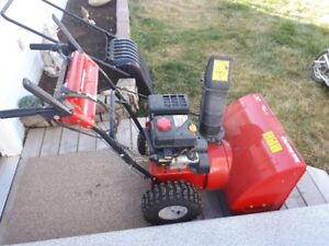 24 inch gas snow blower with electric start