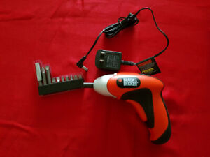 Black&Decker power screwdriver with accessory kit