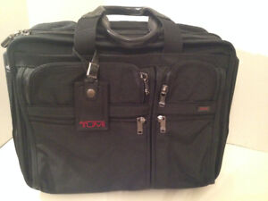 TUMI Deluxe Laptop Briefcase Travel Bag with wheels