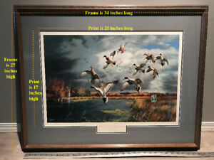 """Ducks Unlimited art """"Fruits of Your Labor - Mallards & Pintails"""""""