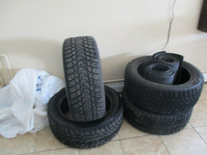 4 (Almost) Brand New Studded Winter Tires