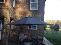 ⛱STURDI 3m Hardwood Frame Garden Parasol (Black) ⛱