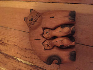 Wooden cats Stratford Kitchener Area image 1