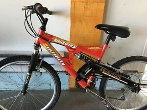 "Road mountain bike 24"". Nice condition.  Needs tubes. Sold as is"