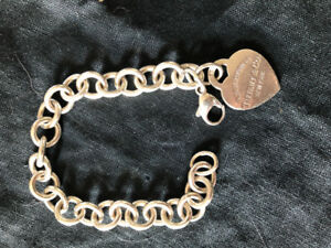 Tiffany and Co. Silver bracelet with heart charm