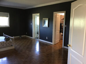 Large private mater bedroom w/master Washroom in large home