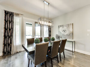 SHOWHOME FURNITURE - DINING TABLE AND 6 CHAIRS