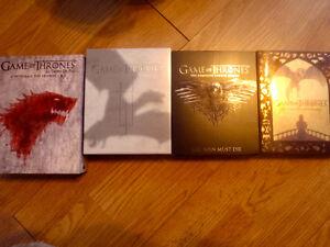 Game of thrones Saison 1 et 2 dvd et 3 à 5 Bluray