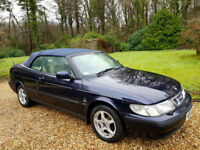 2001 Saab 9-3 2.0t S Convertible Full Saab service History + Full Leather Trim