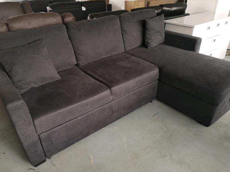 Fine Charcoal Fabric Corner Sofabed With Storage In East Kilbride Glasgow Gumtree Inzonedesignstudio Interior Chair Design Inzonedesignstudiocom