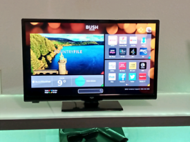 "24"" SMART BUSH TV/DVD COMBI, WITH REMOTE, FREEVIEW PLAY, WE DELIVER"