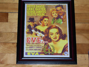 ALL ABOUT EVE - Bette Davis Classic Movie Poster - Framed Print!