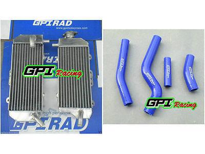 YAMAHA YZ450F 2003-2005//WR450F 2003-2006 2004 radiator silicone hose blue