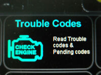 Check engine light on? will read & sometimes erase codes