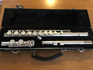 Excellent condition- Buffet flute with books