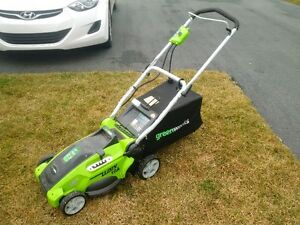 Greenworks 120v 10A electric lawnmower