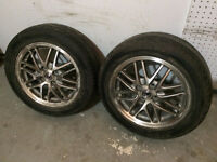 Two Acura 4X100 wheels with 195/55R15 Tires