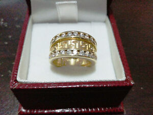 Bague femme or jaune VERSACE 10K lady gold diamond ring
