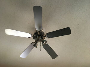 2 Matching Ceiling Fans with Lights