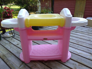 Little Tikes Nursery Baby Doll Changing Table High Chair Bath