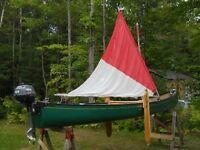 CANOT ESQUIF/ROYALEX 17 PIEDS A MOTEUR ET VOILE