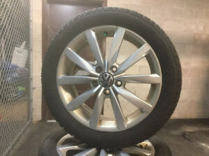 VW OEM Winter tire/Rim with Pirelli tires
