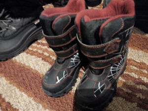 10 t snow boots/ snow shoes for boys spider man