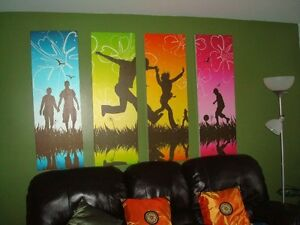 NEW 4-Piece Set of Contemporary Pictures for Wall (Kentville)