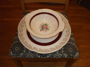 Vintage place setting for 10 persons - 70 piece set