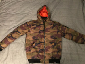Vans Camo Winter Coat / Jacket LIKE NEW