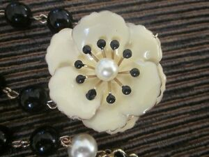 Antique Enamel over Metal Flower-Pins, Brooches and Necklaces #2