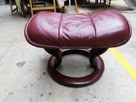 1 Ekornes Stressless leather foot rest stool