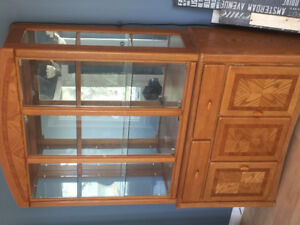 Matching China cabinet and table
