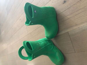 Size 1 - youth - CROC rain boots - rubber boots