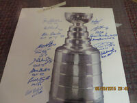 2- AUTOGRAPHED STANLEY CUP PICTURES